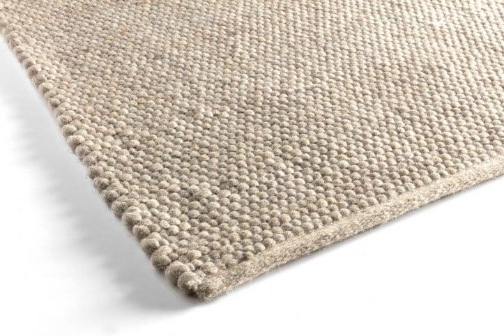 Groot handgewoven 100 % vervilt wol vloerkleed kleed carpet karpet beige 300 x 200 cm
