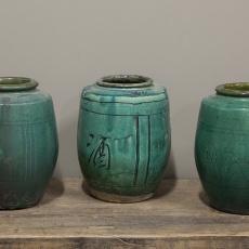 Prachtige stenen pot turquoise zeegroen groenblauw groen blauw kruik vaas turkoise