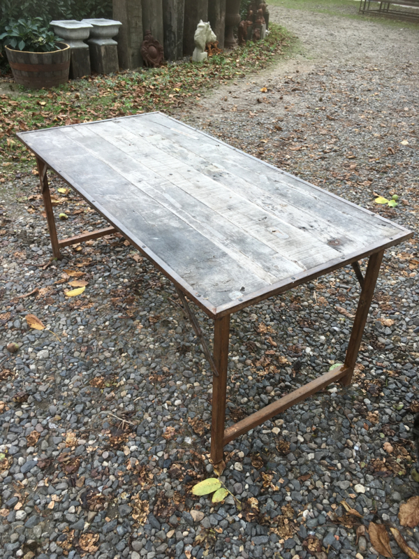 Oude Industriele Tafel.Oude Vergrijsde Landelijke Industriele Eettafel Keukentafel 180