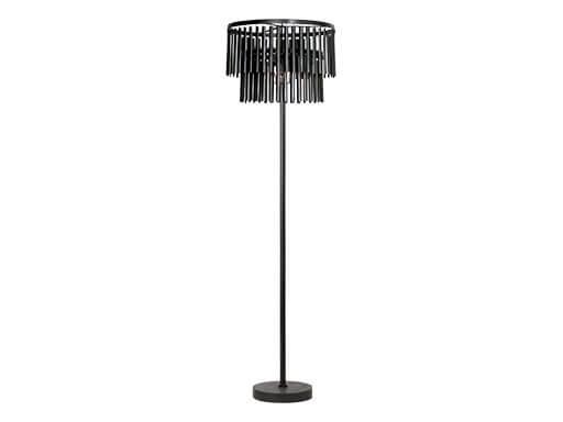 Metalen vloerlamp staande lamp 160 x 45 cm industrieel vintage landelijk zwart grijs stoer