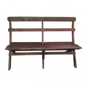 Inklapbare houten bank bankje tuinbank landelijk vintage hout stoer industrieel