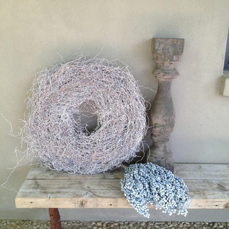 Krans root thin grey wash 60 cm