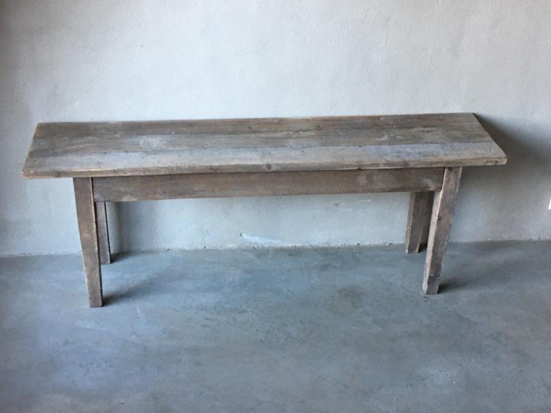 houten bankje bank kruk salontafel Sidetable 120 cm  landelijk stoer