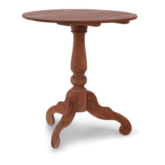 Grote oud houten tafel eettafel eetkamertafel rond 70 cm bijzettafel wijntafel wijntafeltje landelijk stoer