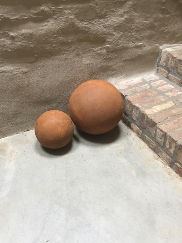 Decoratie bol roest metaal 20 cm Tuindecoratie kogel bal ballen bollen kogels