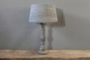 Grijs houten balusterlamp tafellamp lamp inclusief grijze kap landelijk stoer grey