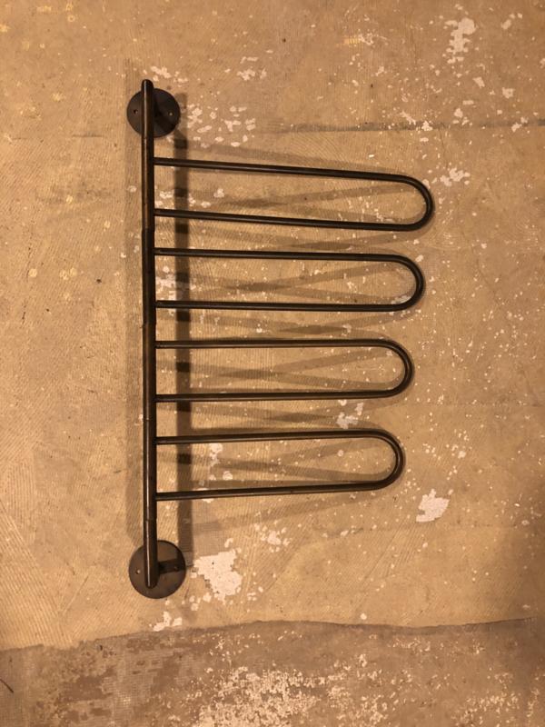 Metalen brons koper kleur handdoekrek handdoekhouder wandrek badkamer metaal brons/koper kleur