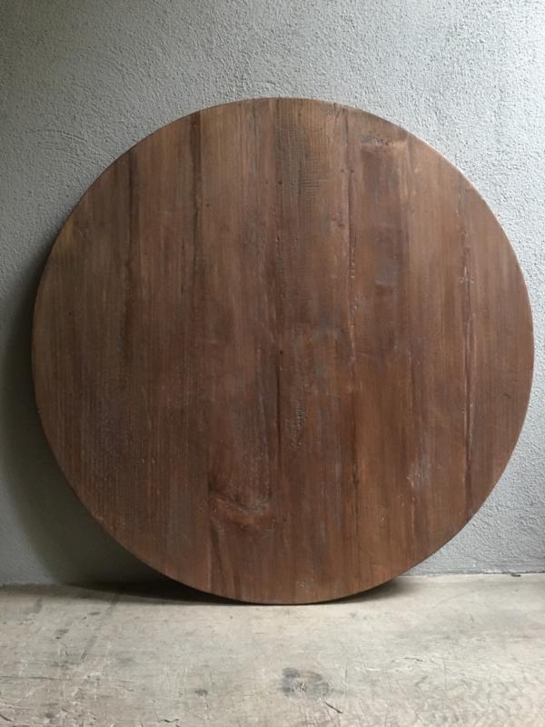 teakhouten tafelblad rond 90 cm