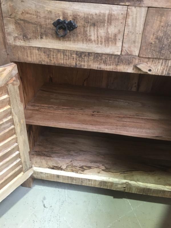 Ongekend Prachtige massief houten dressoir commode kast lades deurtjes NV-12