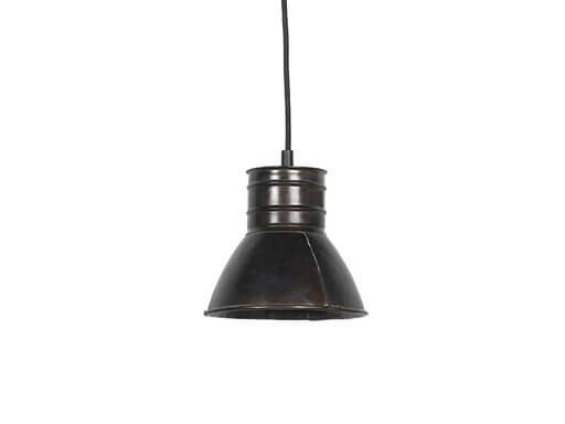 Industriele metalen spot hanglamp industrieel zwart zwarte grijs bruin old look  metaal landelijk stoer