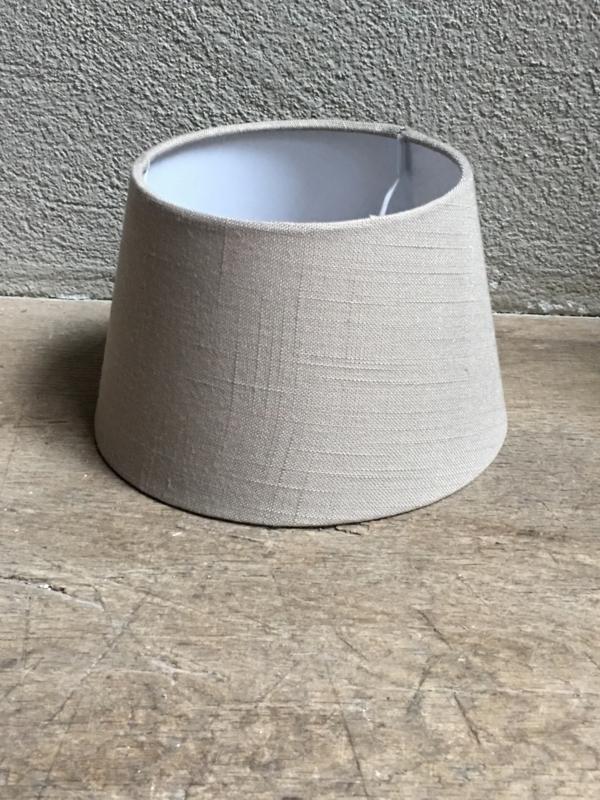 Lampekap lampekapje linnen beige dark linen licht taupe beige 20 cm ton tonnetje tonmodel