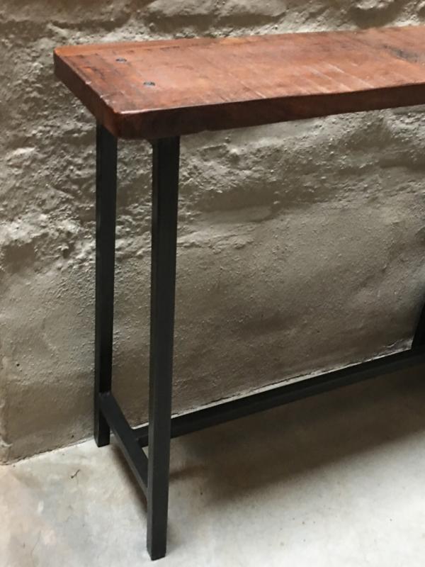 Sidetable 90 Cm Hoog.Ijzeren Consoletable Tafel Sidetable Werkbank Industrieel