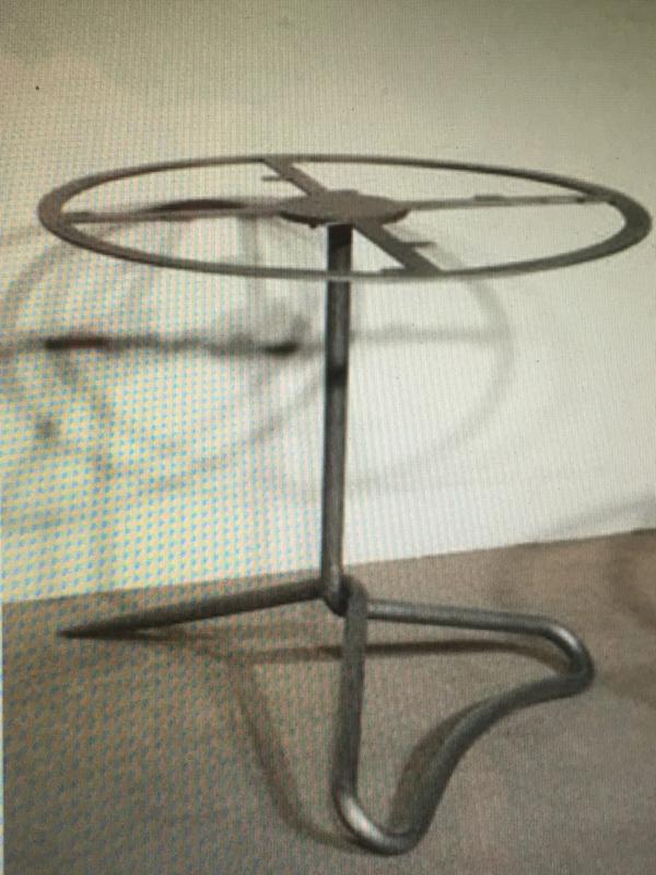 Smeedijzeren tafelonderstel ijzer metaal metalen tafel poot voet tuintafel rond 77 cm 74 cm hoog