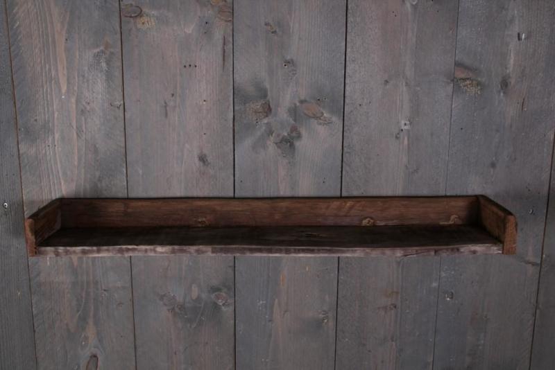 Oud sloophouten wandplank console wandrek 80 cm landelijk stoer plank hout ruw robuust