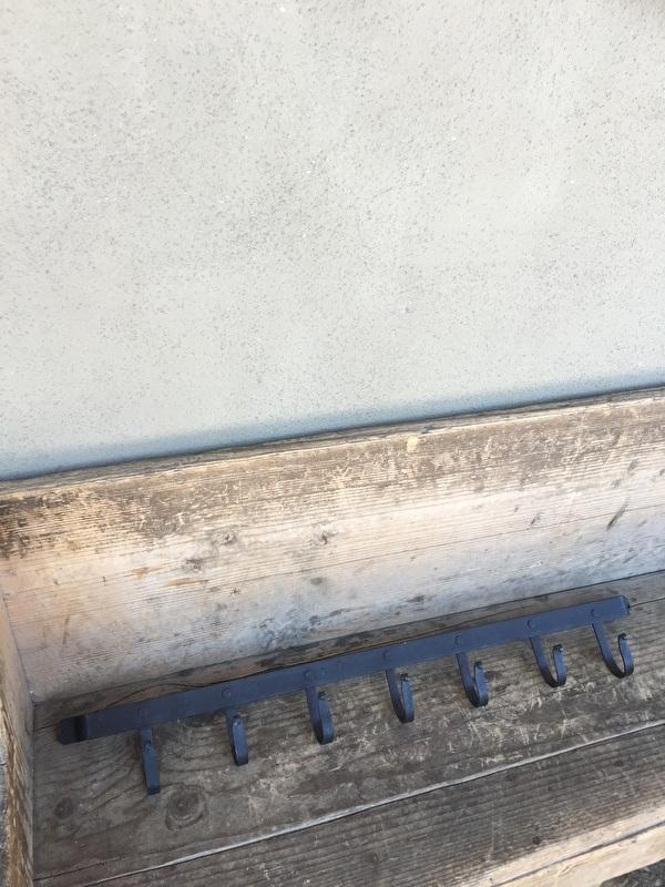 Smeedijzeren kapstok wandkapstok wandhaken landelijk industrieel kapstok muur wand stoer 7 haken