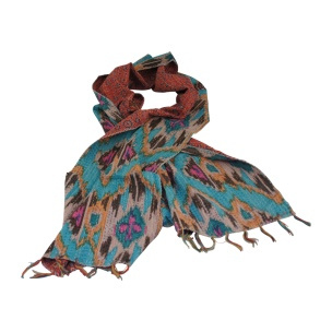 Gave kleurrijke sjaal tafelloper kleed shawl kantha ikat