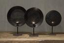 Oude metalen Kandelaar theelicht gemaakt van oude zeef landelijk industrieel vintage bruinzwart