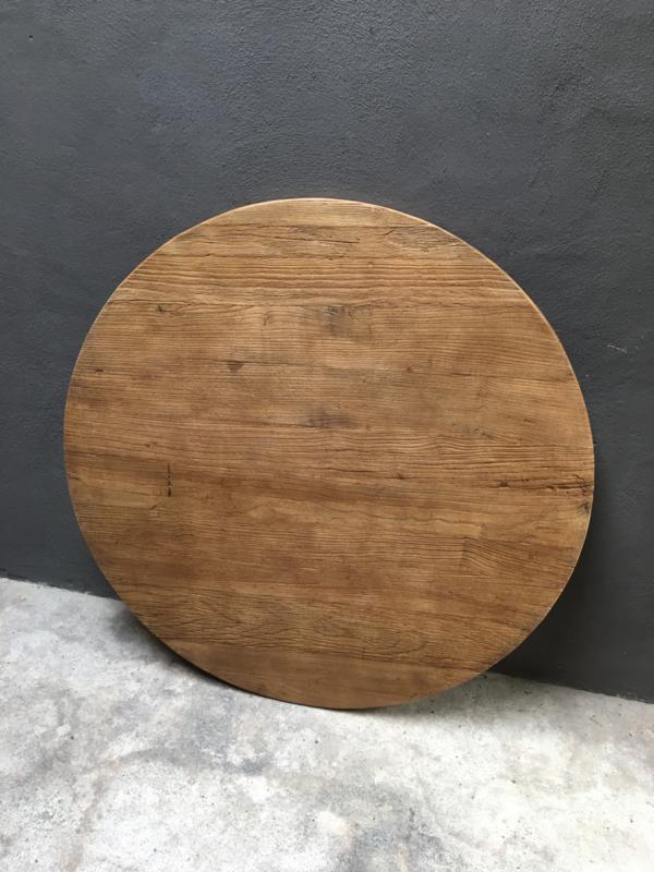 rond teakhouten houten blad tafel tafelblad doorsnede 100 cm
