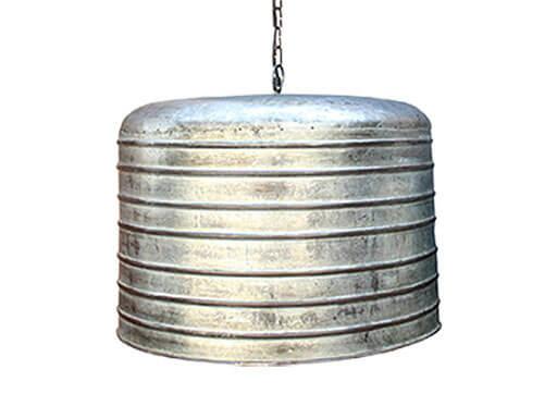 Landelijke industriële fabriekslamp hanglamp S grijs grijze metalen metaal industrieel landelijk