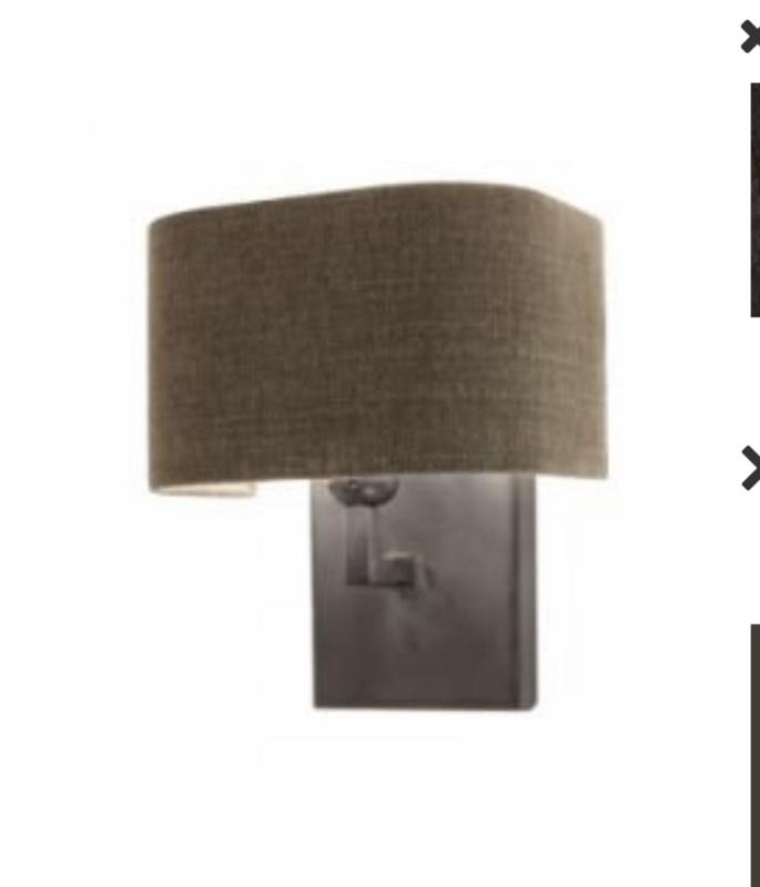 losse Lampekap halve rechthoekige vorm linnen landelijk kap frezoli tierlantijn