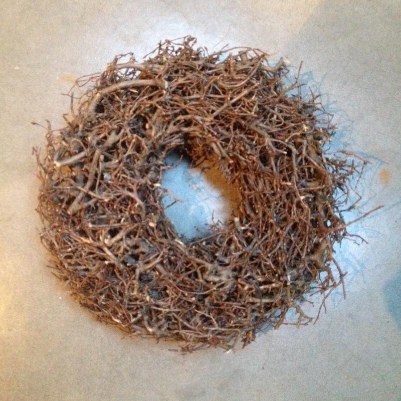 Landelijke bonsai wild krans naturel 30 cm