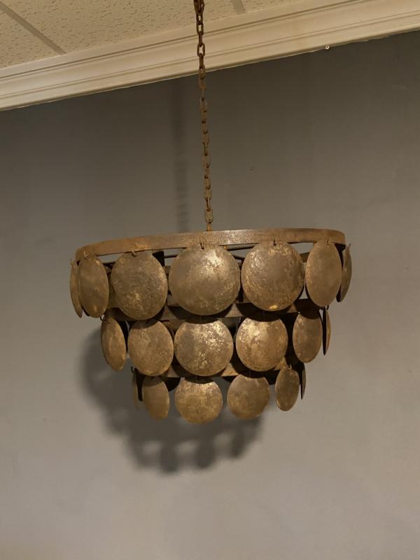 Stoere ijzeren Lampekap 50 cm bruin/roest