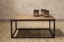 Mooie licht vergrijsd houten salontafel tafel bijzettafel 40 x 85 x 40 cm metalen frame industrieel landelijk vintage
