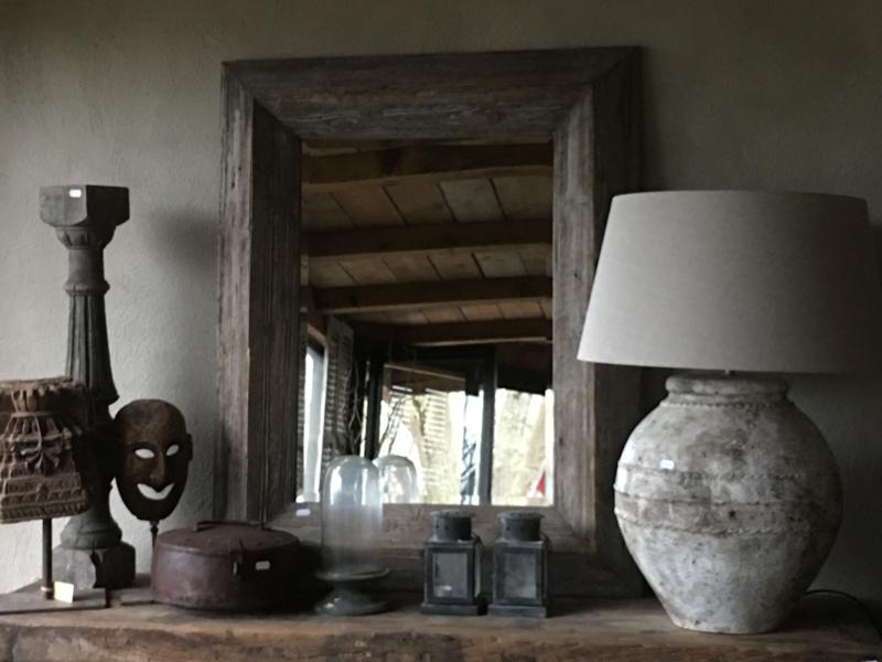 Stoere naturel spiegel 100 x 80 cm landelijk stoer industrieel