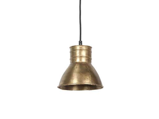 Industriele metalen spot hanglamp industrieel goud gouden brons koper metaal landelijk stoer
