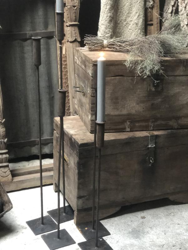 Metalen set Vloerkandelaren ijzer, set van 5 landelijk stoer industrieel dinerkaarsen
