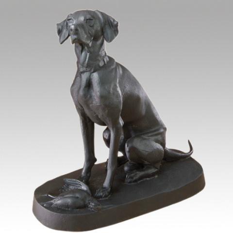 Gietijzeren hond jachthond beeld tuinbeeld metaal ijzer gietijzer zwart landelijk