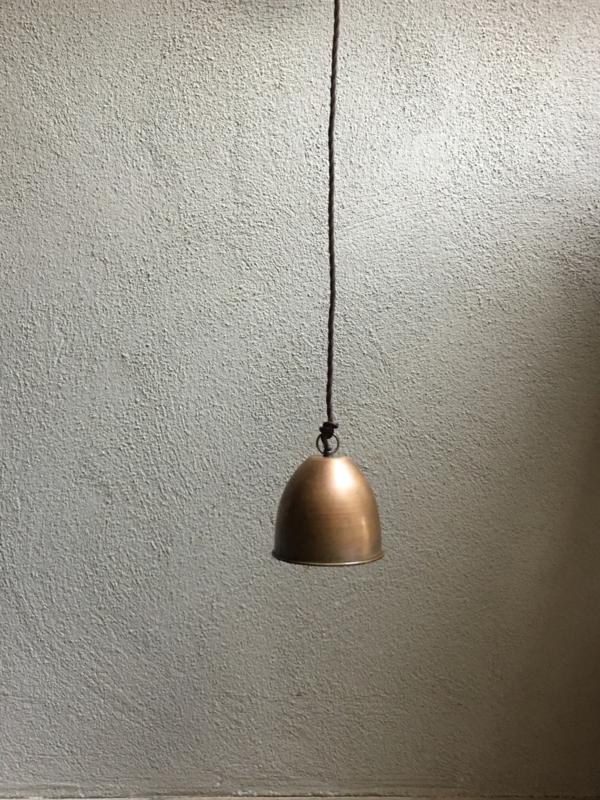 Koperen hanglamp lamp lampje koper kapje Tierlantijn Frezoli Fonte