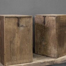 Oud houten kist kistje landelijk stoer robuust 35 x 27 x 43 cm