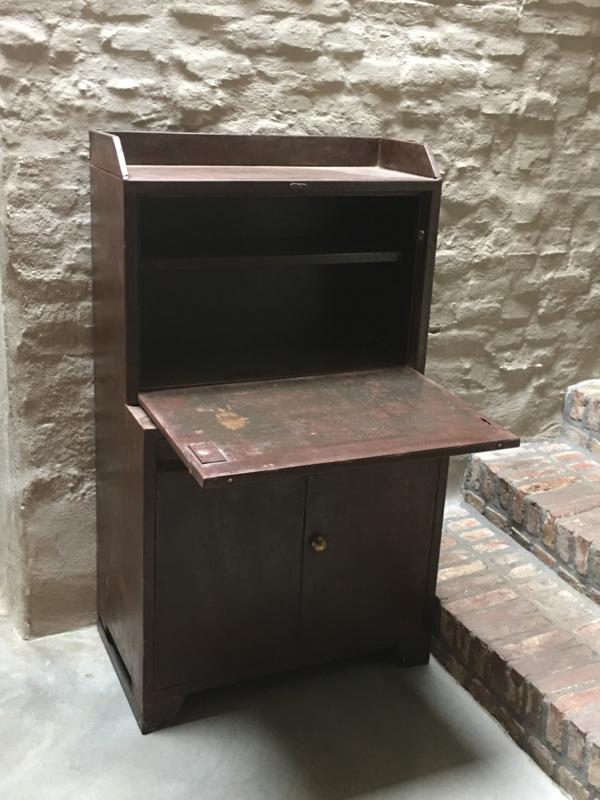 Industrieel Oud Metalen Desk Buro Bureau Vintage Kinder