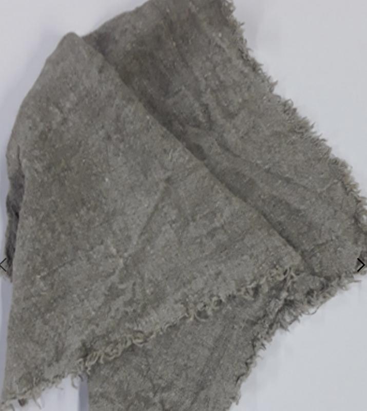 Shabby doek gerafeld 40x60 cm grof linnen doek stoffen lap placemat naturel beige