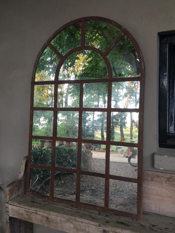 Groot stalraam met spiegel stalraamspiegel tuinspiegel 160  x 100 cm