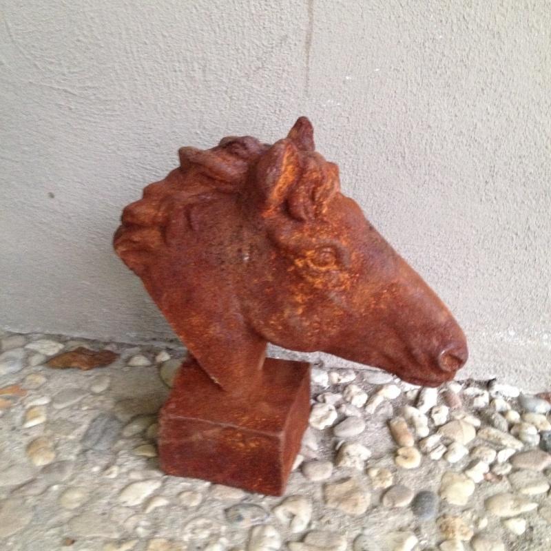 Gietijzeren paardekop paardenkoper paard pony veulen