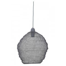 Hanglamp gaas draadijzer grijs 20 x 18 m landelijk stoer lamp korflamp