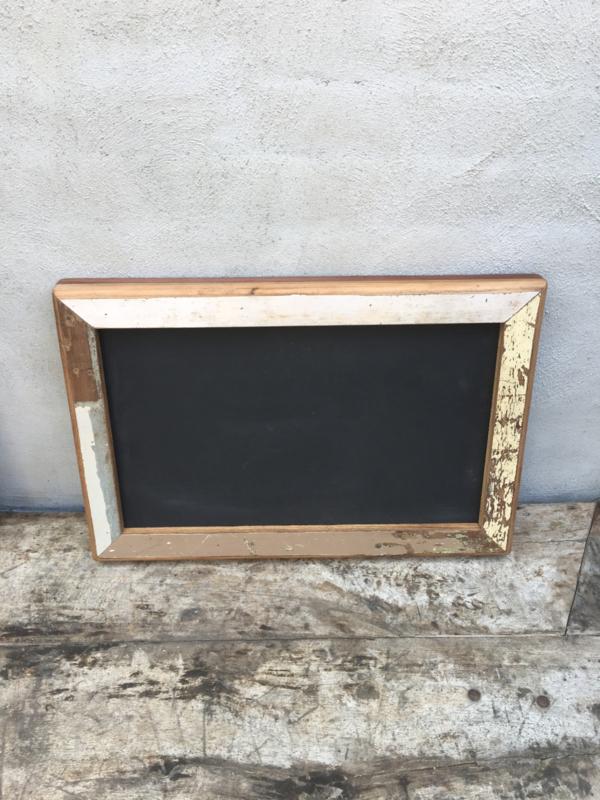 Oud sloophouten krijtbord wandbord memobord schoolbord 60 X 40 cm vintage landelijk industrieel schrijfbord stoer