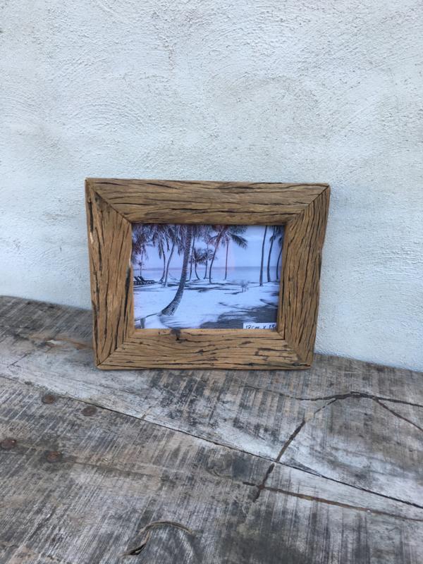 Stoere grijze grijs oud oude vergrijsd houten truckwood railway sloophout fotolijstje30 x 26 cm landelijk vergrijsde fotolijst fotomaat 13 x 18 cm vintage fotolijstje lijst lijstje landelijk
