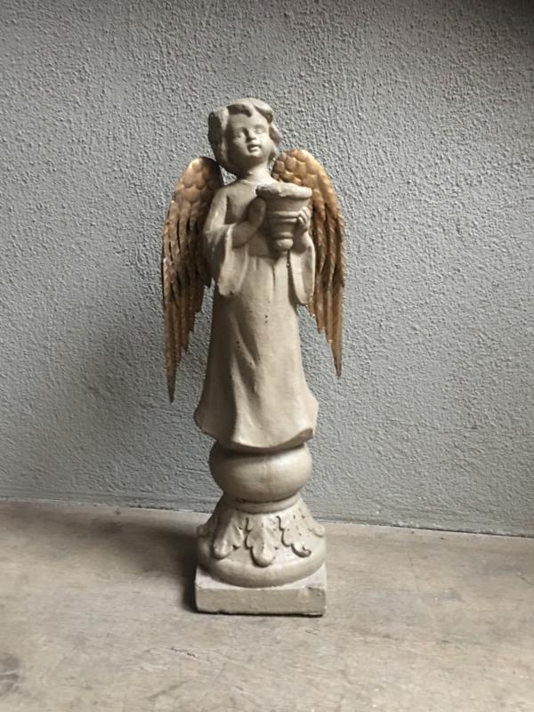 Grote engel (nieuw naar oud model) kandelaar engeltje kerst engeltjes