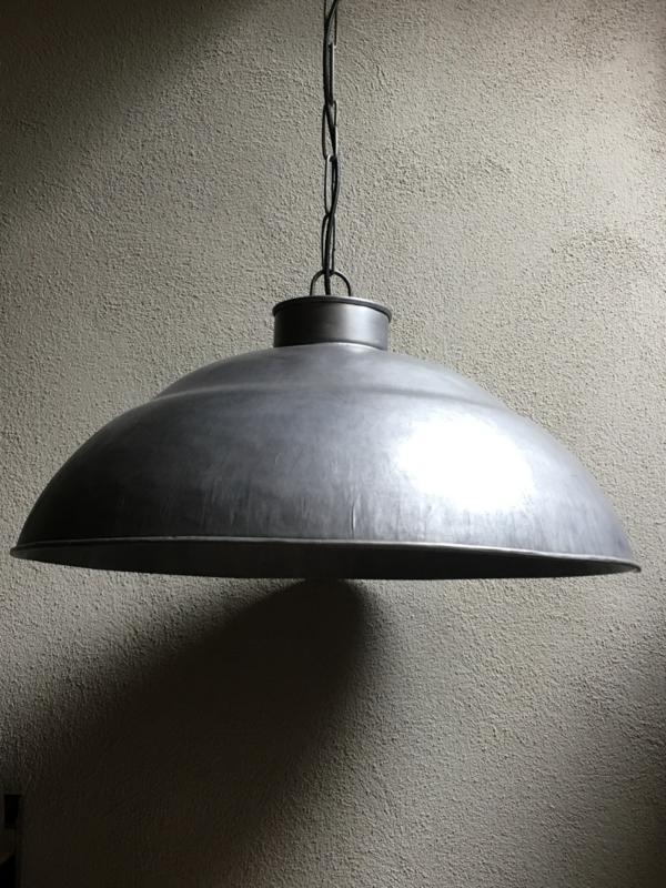 Stoere grote zinken metalen hanglamp rond 100 cm industrieel landelijk stoer vintage