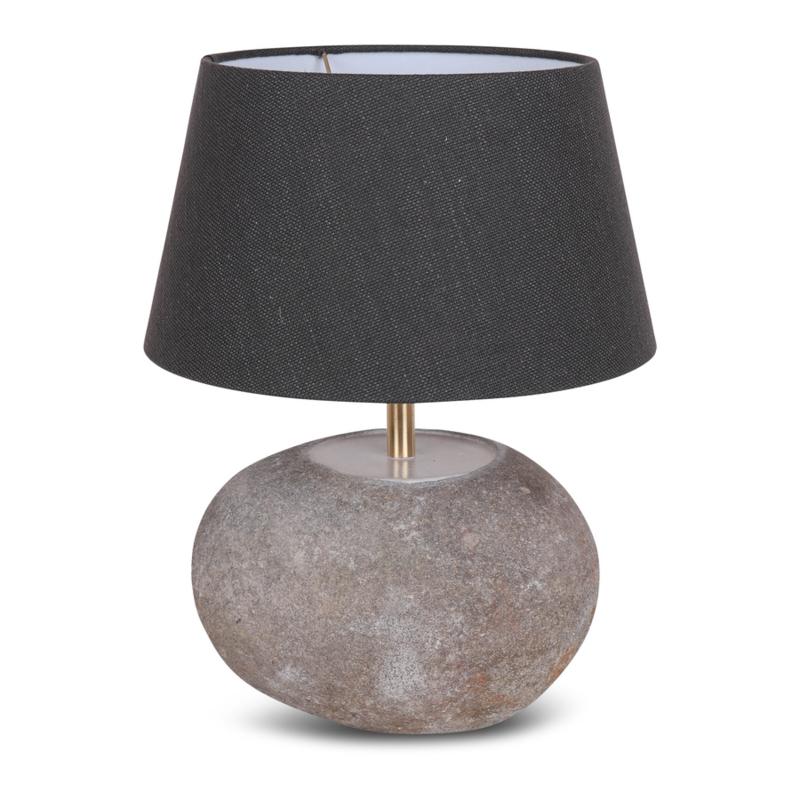 Stenen lampenvoet lampevoet steen kei landelijks toer grijs lamp zwerfkei