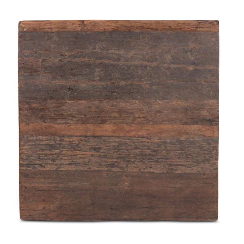 houten tafelblad hout houten blad robuust stoer paneel 80 x 80 cm
