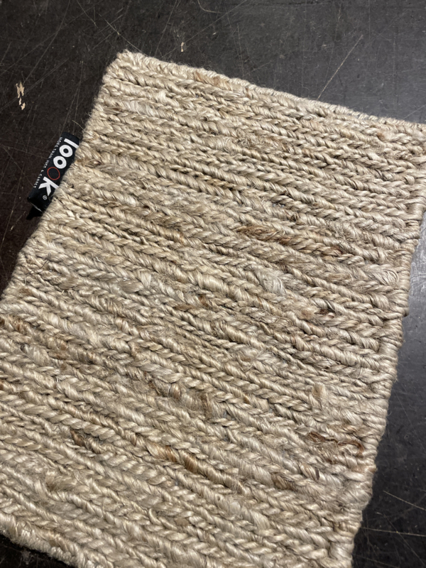 Groot vlakgewoven 100 % hennep vloerkleed kleed carpet karpet Sand 300 x 400 cm