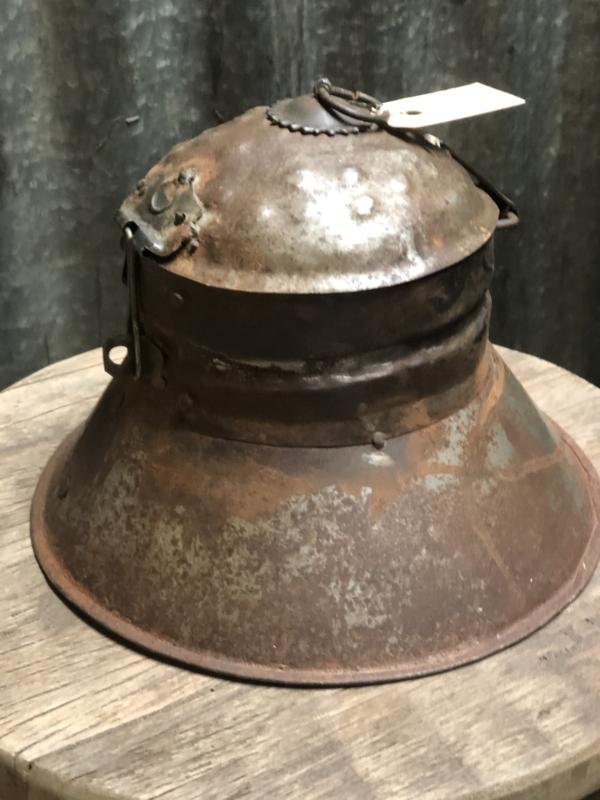 Oud metalen Melkkan potje melkbus trommeltje industrieel landelijk