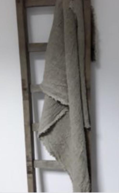 Shabby plaid 200x98 doek landelijk sober handdoek theedoek decoratie lap stof