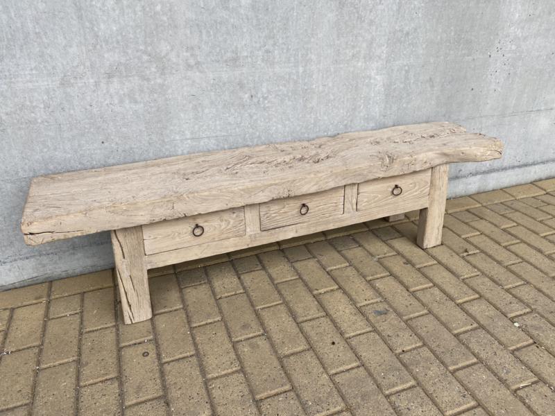 Stoer grof licht houten kast Sidetable tvmeubel televisue televisiemaatschappij sideboard landelijk stoer