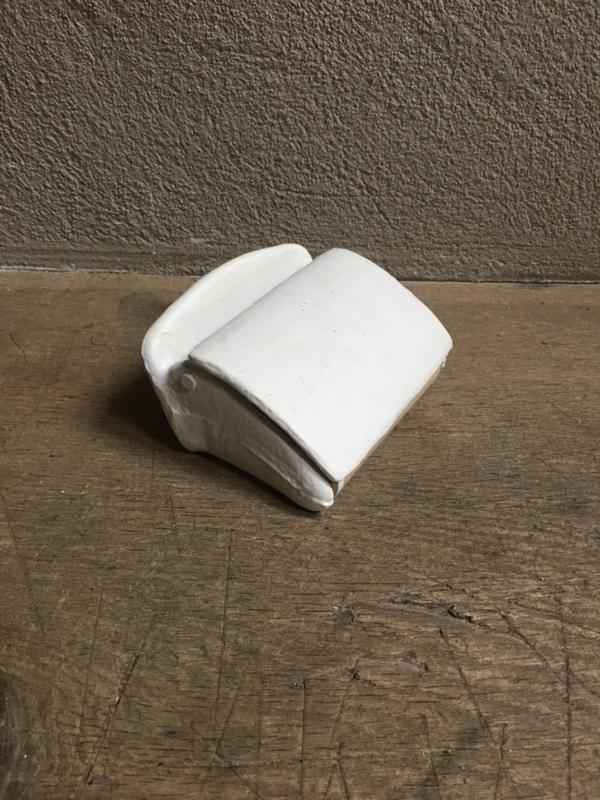 landelijke gietijzeren toiletrolhouder wcrolhouder wit off white