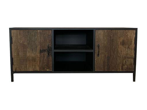 Stoer industrieel landelijk tv meubel televisie kast dressoir sidetable  130 x 56 x 48 cm